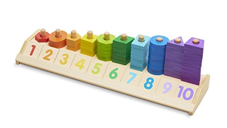 HuaQingPiJu-JP 木製教育計数シェイプスタッカークリエイティブ玩具