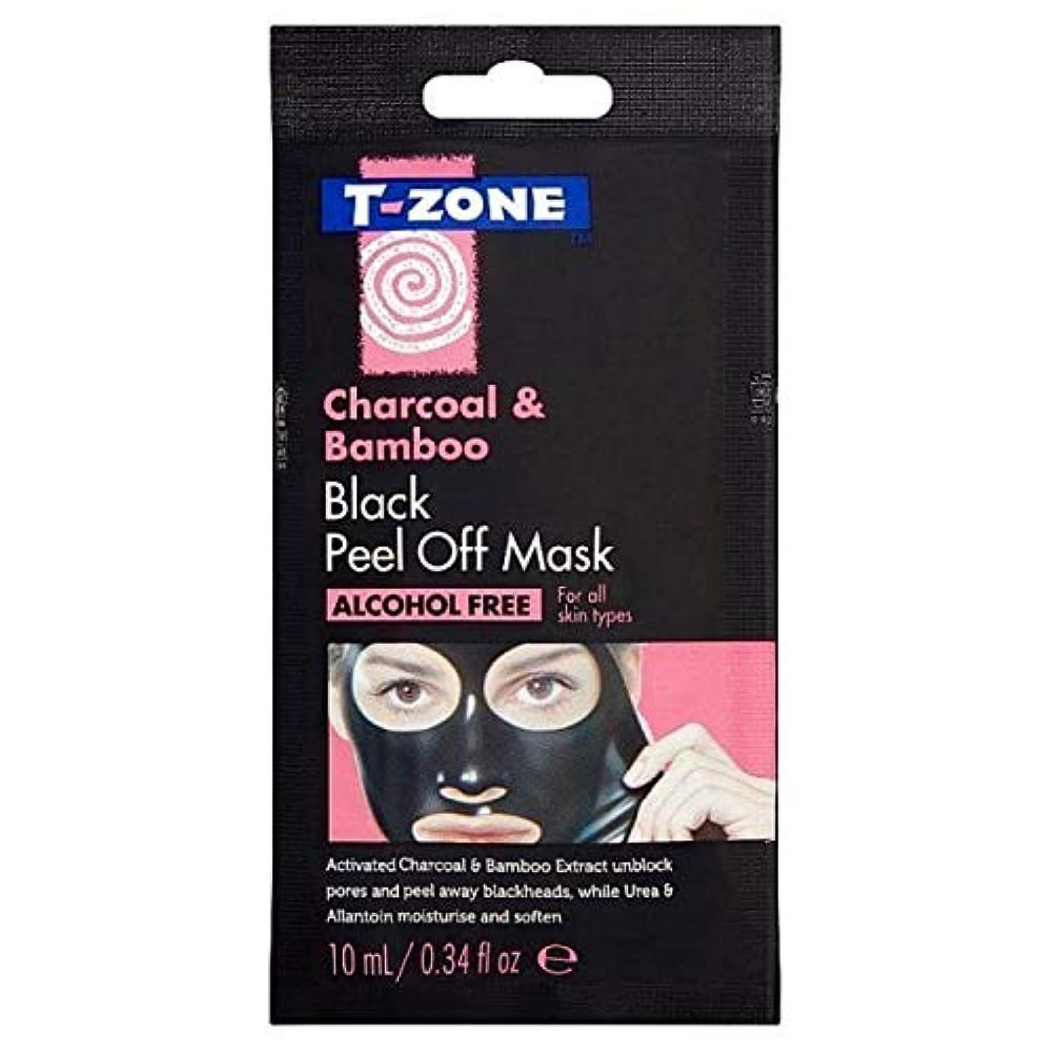 海繕う木製[T-Zone] Tゾーン木炭&竹ブラックマスク10ミリリットルを剥がし - T-Zone Charcoal & Bamboo Black Peel Off Mask 10ml [並行輸入品]