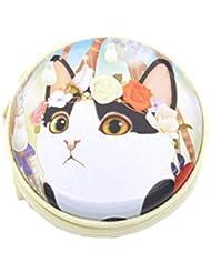 Chinashow エッセンシャル オイル キャリング ケース - かわいい 猫 プリント エッセンシャル オイル スモール ストレージ オーガナイザー フォーム インサート と 7本 ボトル付き(2ml) ピンク