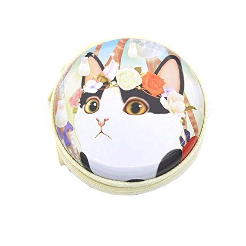 変動する中断表示Chinashow エッセンシャル オイル キャリング ケース - かわいい 猫 プリント エッセンシャル オイル スモール ストレージ オーガナイザー フォーム インサート と 7本 ボトル付き(2ml) ピンク