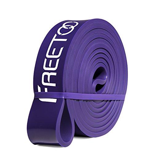 FREETOO フィットネスチューブ エクササイズバンド トレーニングチューブ レギュラータイプ 機器 男性 筋力トレーニング リフティング筋肉 レッド 15ポンドから35ポンドまで