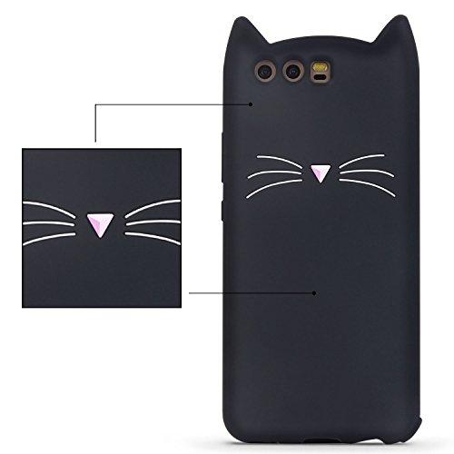 IMIKOKO Huawei P10 ケース ファウェイP10 カバー 猫 ねこ シリコン ディズニー 耐衝撃 おしゃれ かわいい