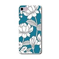 スマホ スマートフォン スマホハード型ケース 白い花シリーズ 【747_ブルーグリーン|ZenFone3 MaxZC520TL】