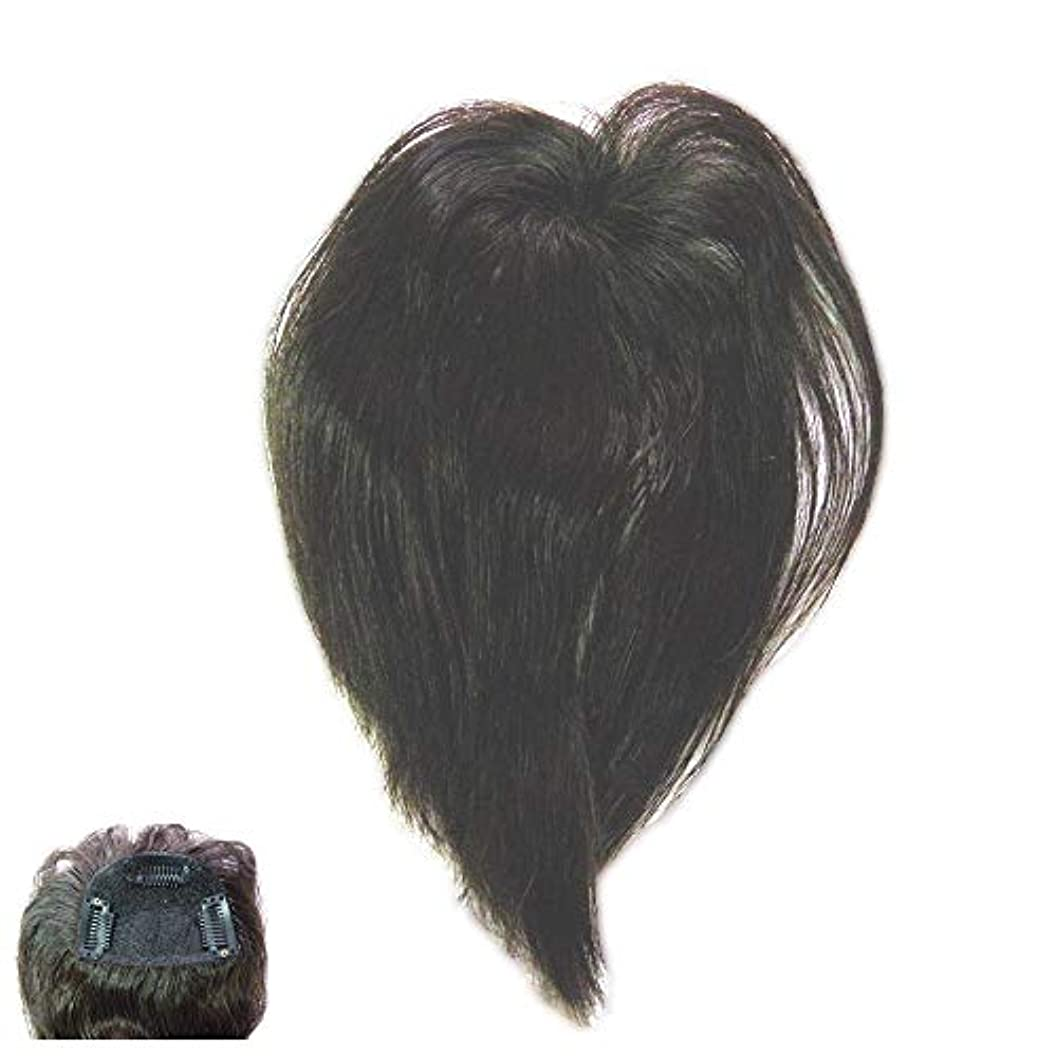 戻るペデスタル高度(パッケージ不良)ファッション?トップウイッグ★人毛と耐熱形状ファイバーのデラックス仕様 Type13