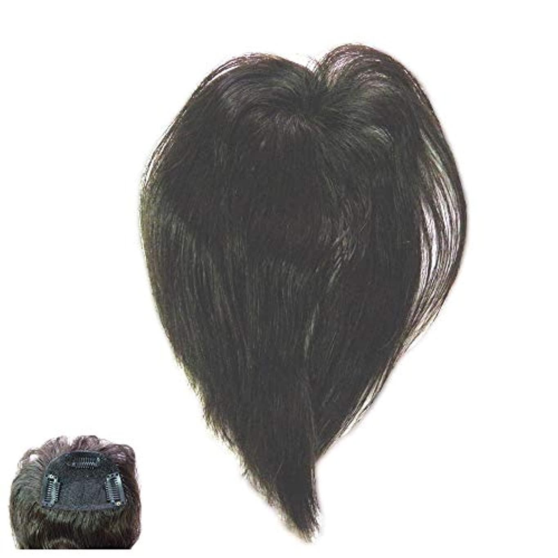むさぼり食う締める廃止する(パッケージ不良)ファッション?トップウイッグ★人毛と耐熱形状ファイバーのデラックス仕様 Type13