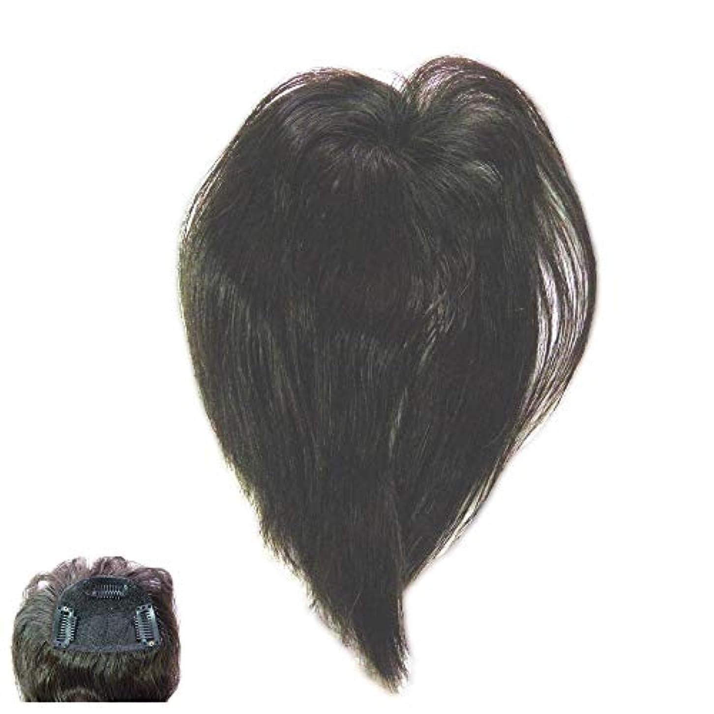 余剰推定する分数(パッケージ不良)ファッション?トップウイッグ★人毛と耐熱形状ファイバーのデラックス仕様 Type13