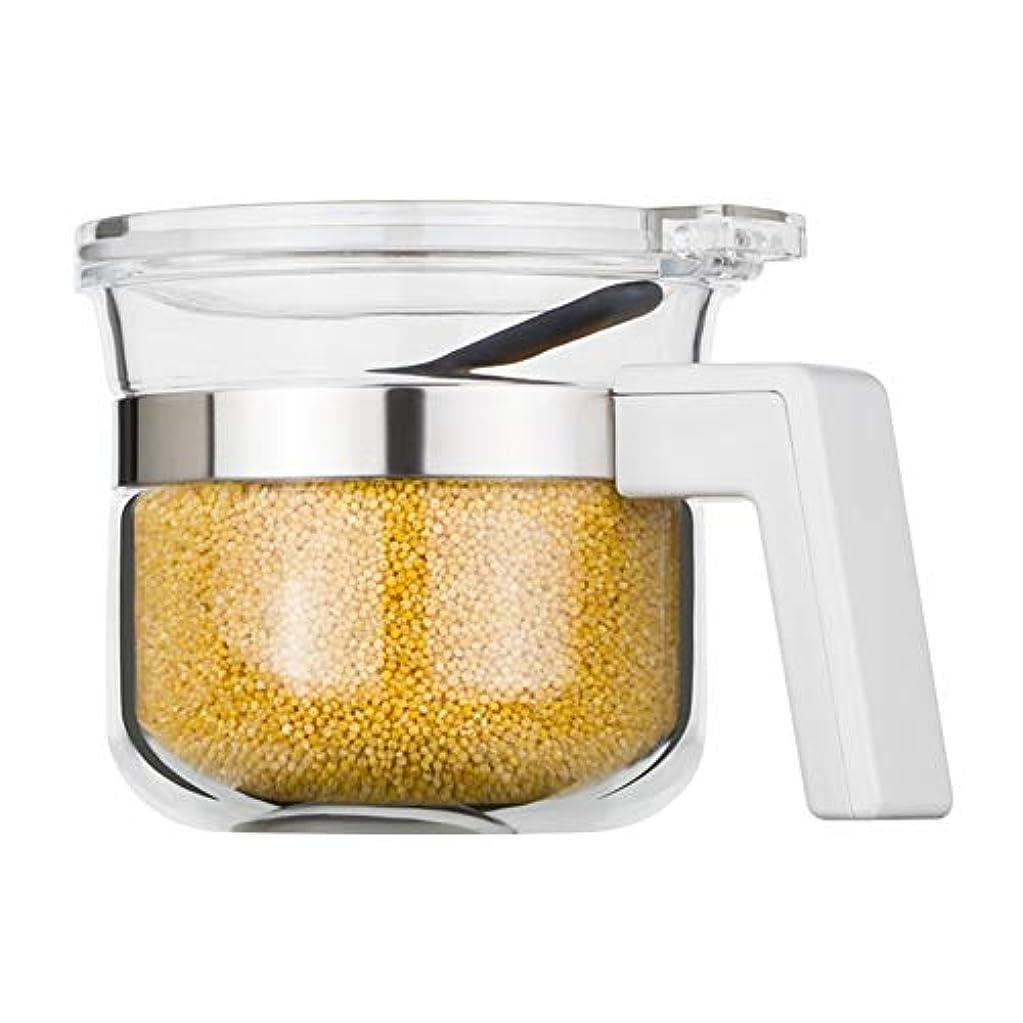 ローマ人カプラーポケットスパイスジャー、密閉された貯蔵タンクキッチン調味料貯蔵(450 ml、9.5 * 9.5 * 10.5 cm)