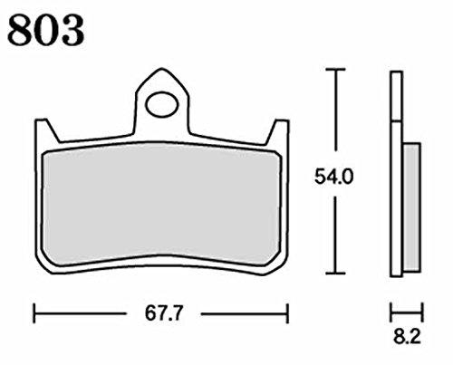 アールケー(RK) ブレーキパッド メガアロイ  HONDA:VTR1000F '97~'01 X4 [ニッシン4P](フロント)など バイク オートバイ 二輪用803MA-X