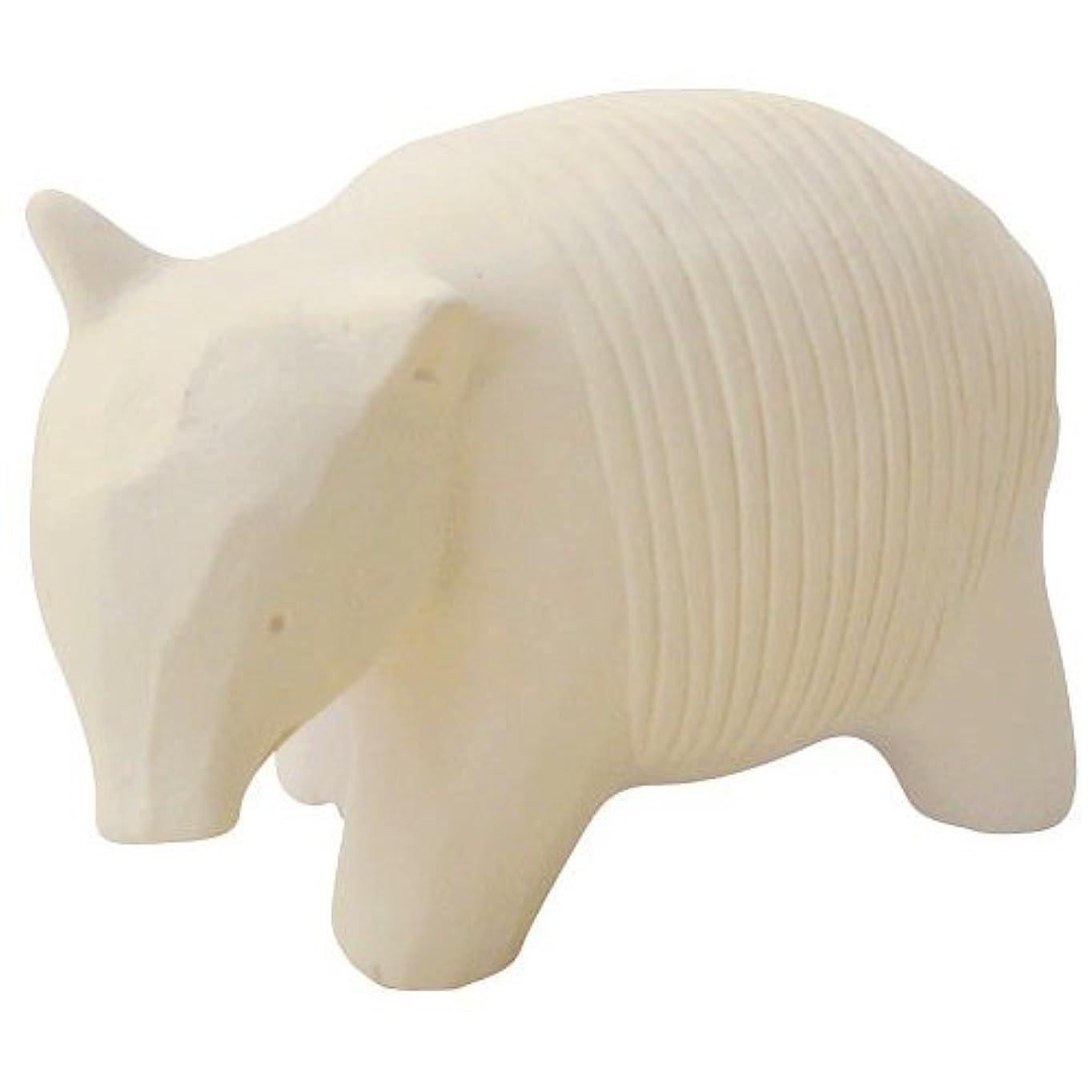 舌四分円ブラウスのんびり動物 プチアロマ 白バク
