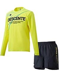 デサント(DESCENTE) グラフィック ハーフスリーブシャツ&ショートパンツ上下セット(イエロー/ブラックイエロー) DRMMJB51-YL-DRMMJD80-BKYL