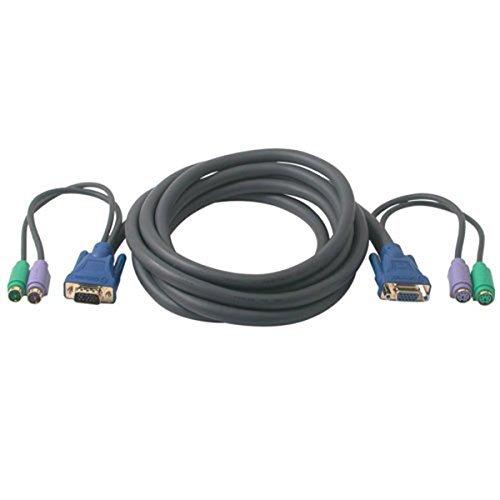 w// Ferrites 75 feet cable Coaxial Construction PcConnectTM HD15 Female SVGA Male // HD15 Black SVGA