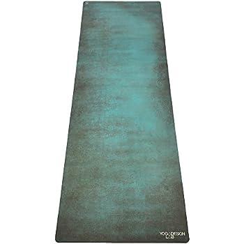 Yoga Design Lab (ヨガデザインラボ) ヨガマット 厚さ1mm トラベルマット 折りたたみ ストラップ付 (Aegean)