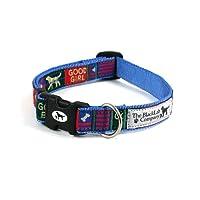 ザ・ブラックラブカンパニー 首輪 Mサイズ /フラッグ/ ブルー / 中型犬用 5色から選べるベースカラー 犬グッズ専門店 オリジナル 国産