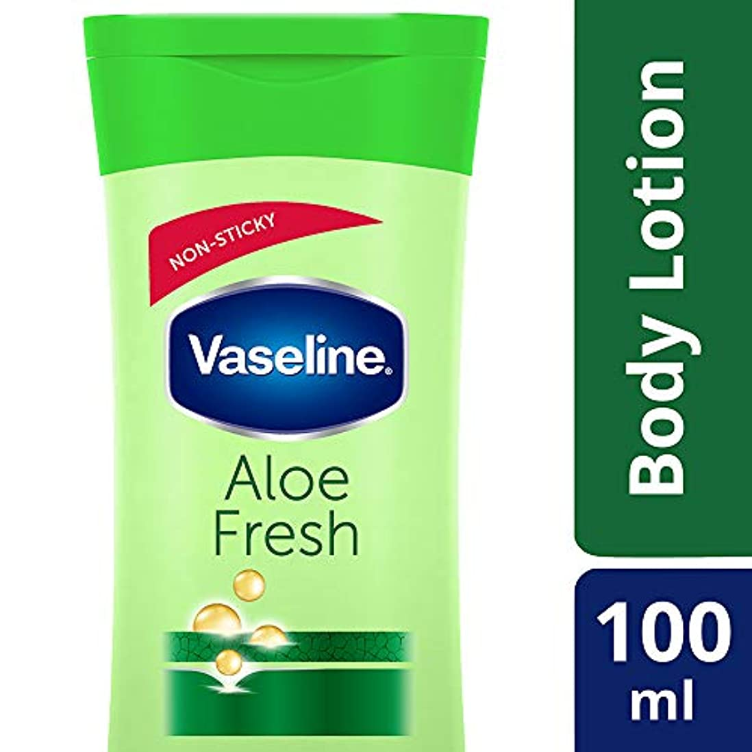 基本的な愛人内なるVaseline Intensive Care Aloe Fresh Body Lotion, 100 ml