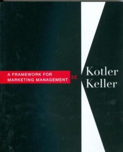 Download Framework for Marketing Management 0132539306