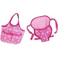 D DOLITY ピンク 実用的 バックパック ハンドバッグ 18インチアメリカドールのため