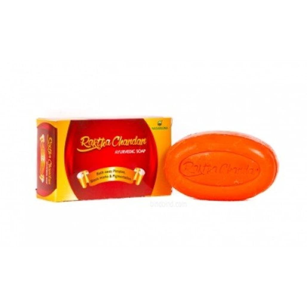生息地偽善者フリンジNagarjuna Raktha Chandan Ayurvedic Soap Best For Glowing Skin