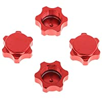F Fityle 4個 RCカーホイールハブナット ファスナーナット RCカーパーツ 赤