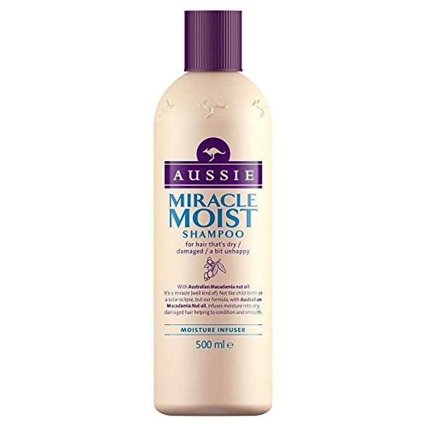 ガレージもろい含むAussie Miracle Moist Shampoo (500ml) オージー奇跡湿ったシャンプー( 500ミリリットル) [並行輸入品]