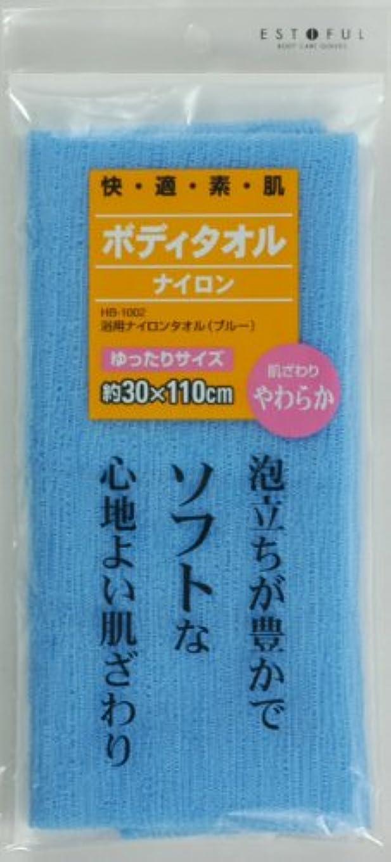 ストリップ見通し回復するEF.浴用タオル やわらかめ ブルー