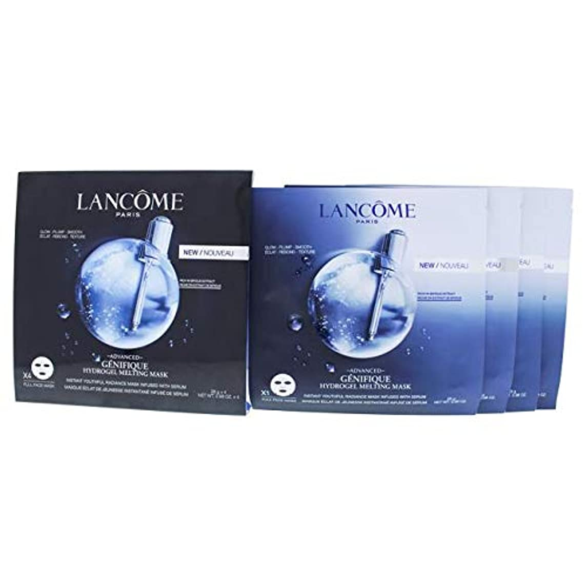 決定的代表してプレミアムランコム Genifique Advanced Hydrogel Melting Mask 4sheets並行輸入品