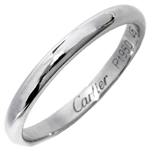 [カルティエ]Cartier Pt950 クラシックウェディングリング 1895ウェディングリング(幅2.0ミリ) 指輪 #46(6号) B40780 中古