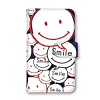 seventwo Xperia Z5 Premium SO-03H 国内生産 カード スマホケース スマホカバー 手帳型 携帯ケース 携帯カバー SONY ソニー エクスペリア ゼットファイブ プレミアム 【F.ネイビー】 スマイル 可愛い 笑顔 other_034