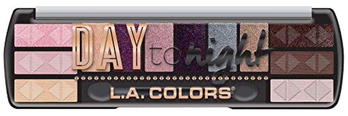 チューブボンド彫刻家LA COLORS Day To Night 12 Color Eyeshadow - Dawn (並行輸入品)