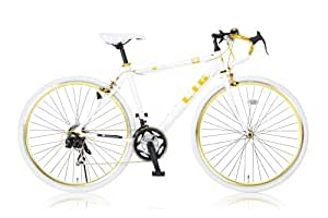 LIG(リグ) ロードバイク 700C シマノ21段変速[サムシフター] 前輪クイックリリース 前後キャリパーブレーキ LIG UNIWAY ホワイト