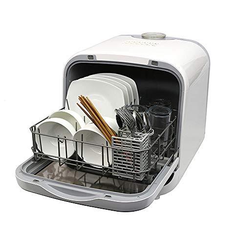 コンパクト食器洗い乾燥機 ホワイト / 工事不要 簡単設置 卓上前開きタイプ タンク式 食洗機
