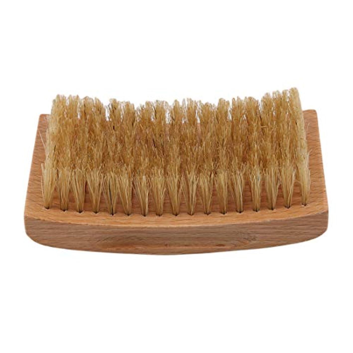 感嘆ネックレット料理をするKLUMA ひげブラシ シェービングブラシ 理容 洗顔 髭剃り 泡立ち 洗顔ブラシ 1#