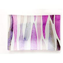 Pre de Provence Via Mercato Collection Decorative Glass Soap Dish, Purple, 90.7 Gram
