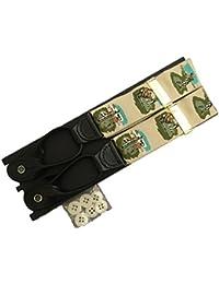 サスペンダー 米国製 メンズ Y型 Yバック ボタン止め ブレイス ブレイシーズ Braces 稀少ビンテージ品 ゴルフ B011