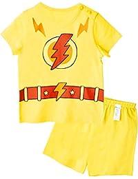 Unifriend Tシャツ 半ズボン パンツ ショート キッズ 女児 綿100% オーガニック パジャマ ルームウェア パンツ ねまき 上下セット サンダーガール-130cm