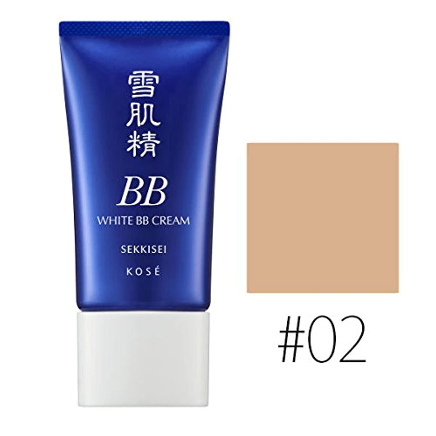抽象化クラフト読むコーセー 雪肌精 ホワイト BBクリーム【#02】 #OCHRE SPF40/PA+++ 30g