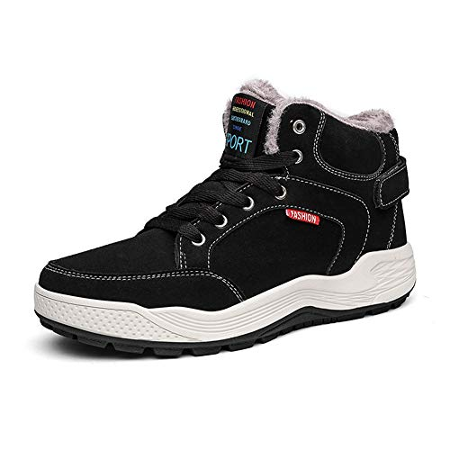 (ダント) Dannto スノーブーツ メンズ レディース 防寒靴 保暖 裏起毛 スノーシューズ 綿靴 雪靴 冬用 ウィンターブーツ(ブラック,25.0cm)
