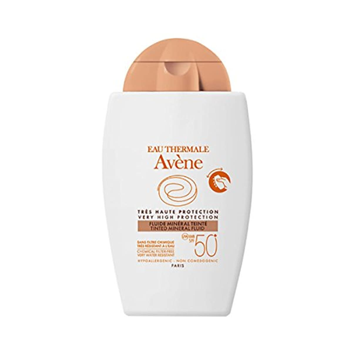 契約した繊維宇宙船Av鈩e Sun Mineral Fluid With Colour Spf50+ 40ml [並行輸入品]
