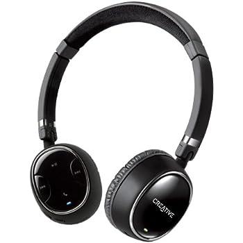 【iPhone、iPad、Android搭載スマートフォン対応】 Creative WP-350 マイク搭載 Bluetooth apt-X A2DP AVRCP HSP HFP ワイヤレスヘッドホンHS-WP350