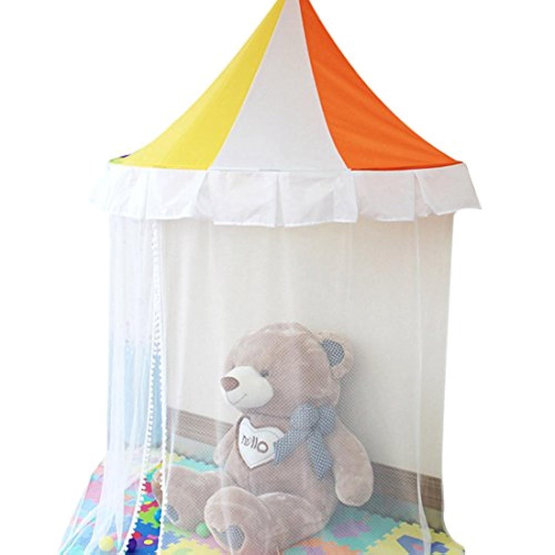 enerhu壁掛け式半円形Kids Play Tent with YarnカバーPlayhouseホームGradenパーティー58.27