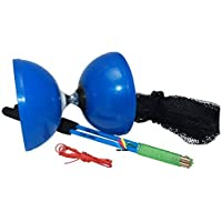 Flight Pro Triple Bearing Medium 5  Blue Chinese Yoyo Diabolo Toy with Carbon Sticks 【You&Me】 [並行輸入品]