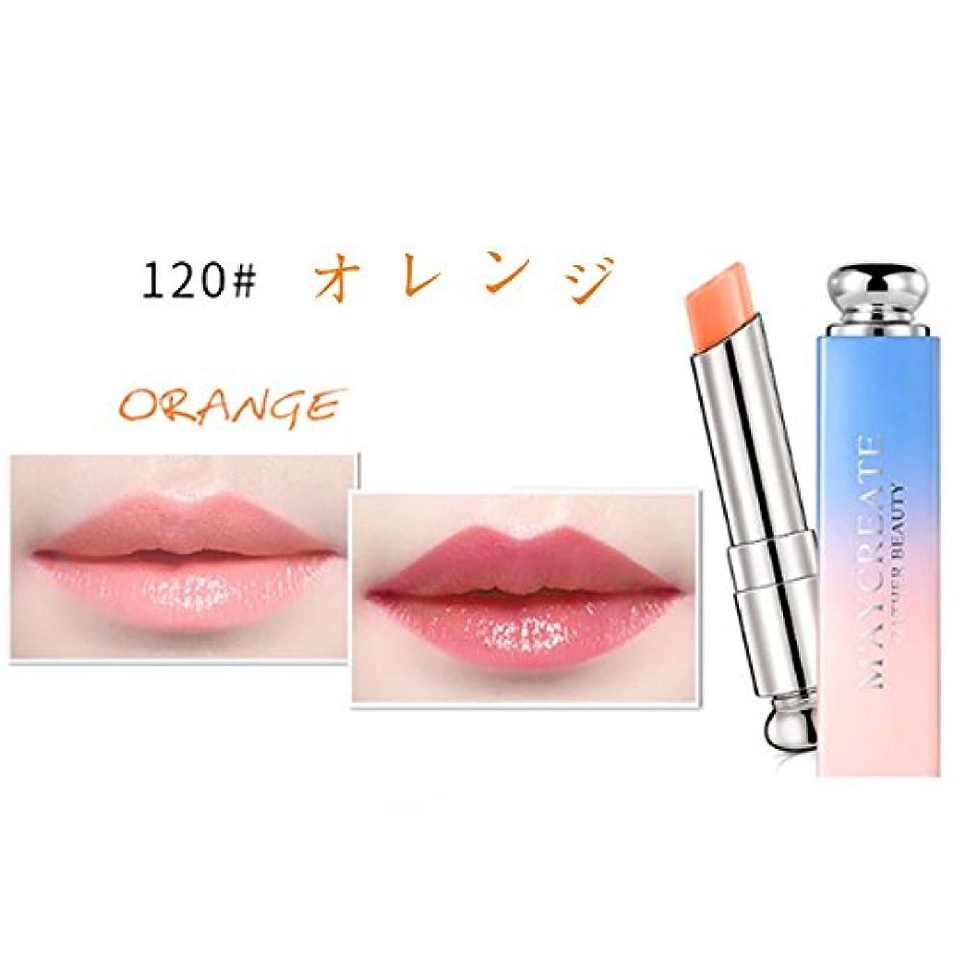 広範囲に雰囲気乗り出すリップスティック うるおい 口紅 唇の温度で色が変化するリップ 優れる発色力 保湿 長持ち 3.8g (120#)