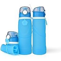 R & A Folding折りたたみ可能なスポーツウォーターボトル、750ml / 25ounce、スポーツ、外作業&旅行の