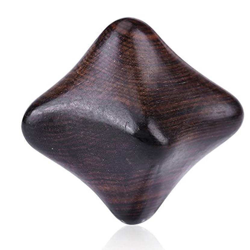 入植者ぐるぐる平和的ボディマッサージ、ベトナム香りの木のリフレクソロジーストレスリリーフ六角形ハンドマッサージツール(#2)