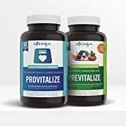 Better Body Co. Slim Gut Bundle | Provitalize & Previtalize Bundle - Natural Menopoause Probiotic And Preb