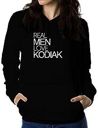 Real men love Kodiak 女性 フーディー
