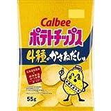 カルビー ポテトチップス 4種のかさねだし味 55g ×12袋