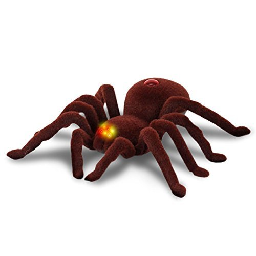 【閲覧注意】 わきわき動く 簡単操作 2ch リアル毒蜘蛛ラジコン 目が光る LED搭載 どっきり ジョーク パーティ