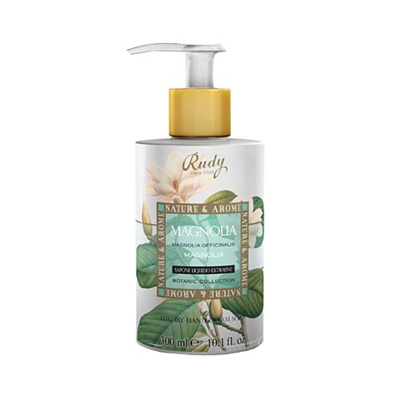 日記難しい曲線RUDY Nature&Arome SERIES ルディ ナチュール&アロマ Liquid Soap リキッドソープ マグノリア