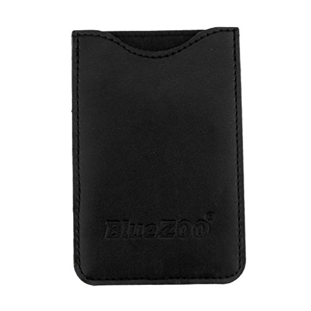 カウンターパート可聴腐敗したToygogo PUレザー ポケット コームバッグ 櫛バッグ 収納パック 保護カバー 柔らかい 全2色 - ブラック