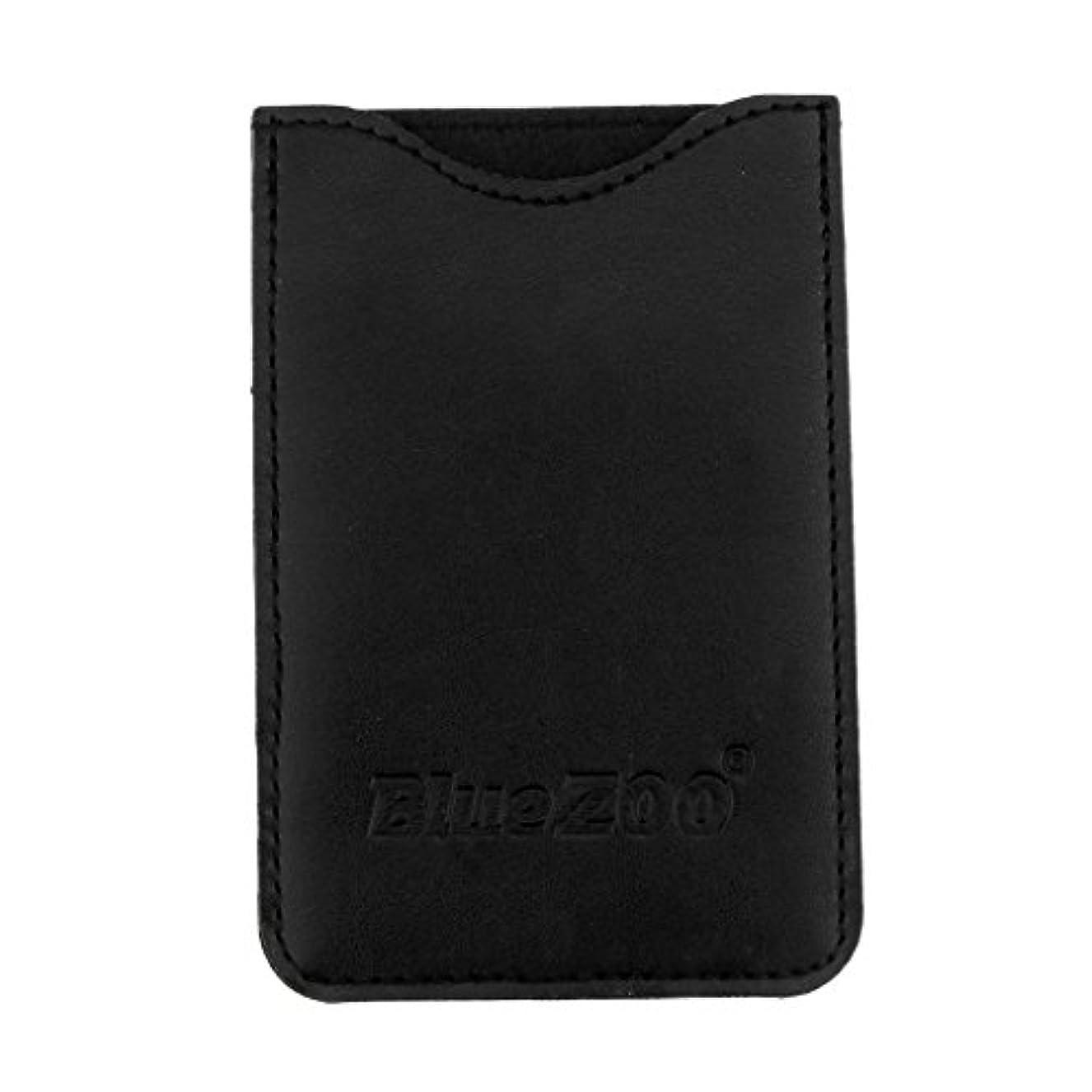 ちらつきバラバラにする魅力的Toygogo PUレザー ポケット コームバッグ 櫛バッグ 収納パック 保護カバー 柔らかい 全2色 - ブラック